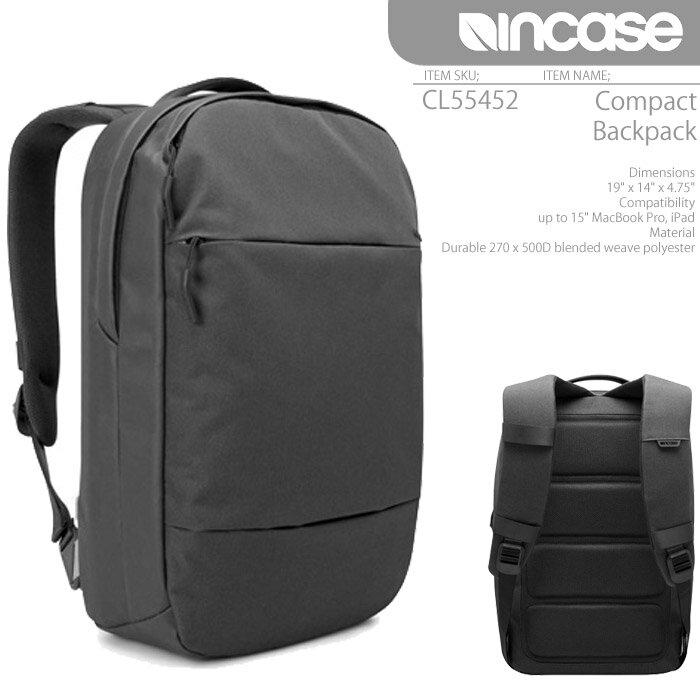 [あす楽]INCASE Compact Backpack CL55452 BLACK インケース バックパック バッグ リュック Macbook AIR iPad