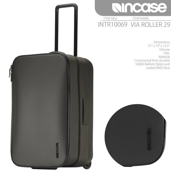インケース バッグ スーツケース INCASE VIA ROLLER 29 100L INTR10069 ローラー キャリーバッグ キャスター メンズ レディース ユニセックス 男性 女性 ▲[ブラック][グレー]■CRNGds-Y