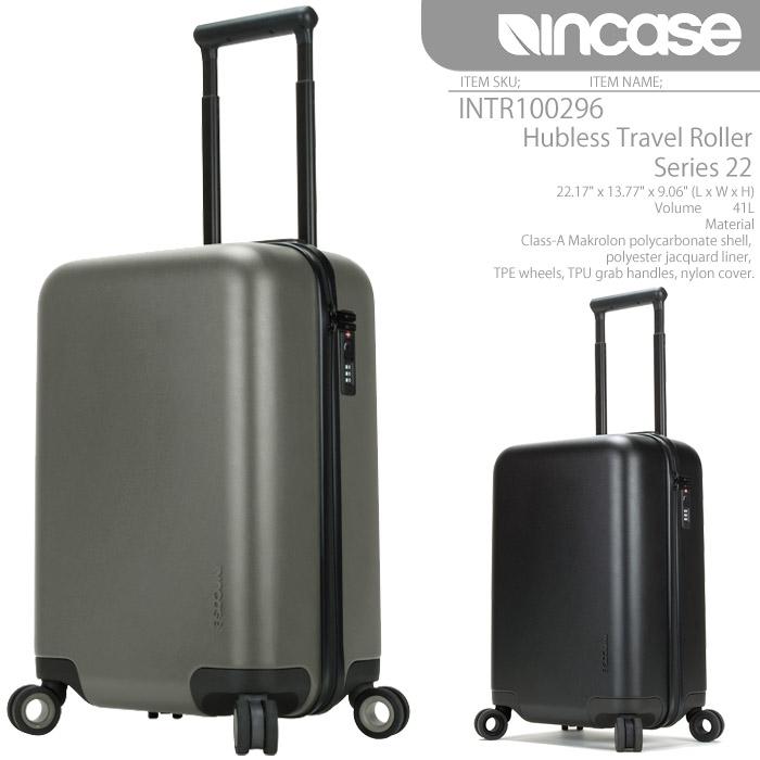 インケース バッグ スーツケース INCASE Hubless Travel Roller Series 22 INTR100296 ローラー キャリーバッグ キャスター メンズ レディース ユニセックス 男性 女性 ▲[ブラック][グレー]ds-Y