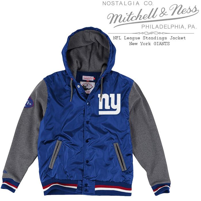 [あす楽]MITCHELL & NESS NFL League Standings Jacket New York GIANTS ミッチェル&ネス ニューヨークジャイアンツ スタンディングジャケット ジャージ