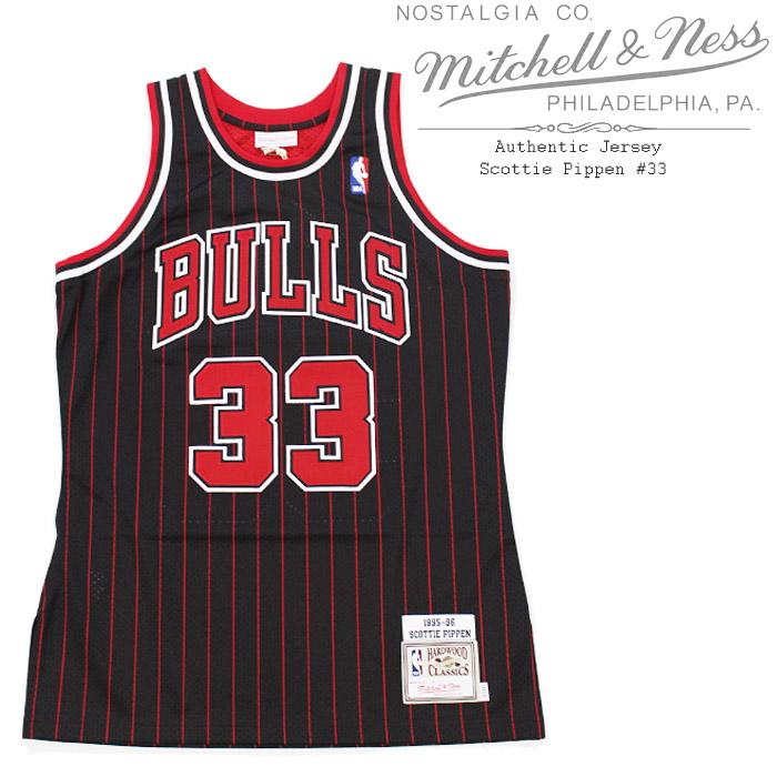 [送料無料]ミッチェル&ネス ユニフォーム MITCHELL & NESS Authentic Jersey - Scottie Pippen 7226A300958SPIPP #33 スコッティ ピッペン シカゴブルズ オーセンティック ジャージー 大きいサイズ▲[ブラック]ds-Y