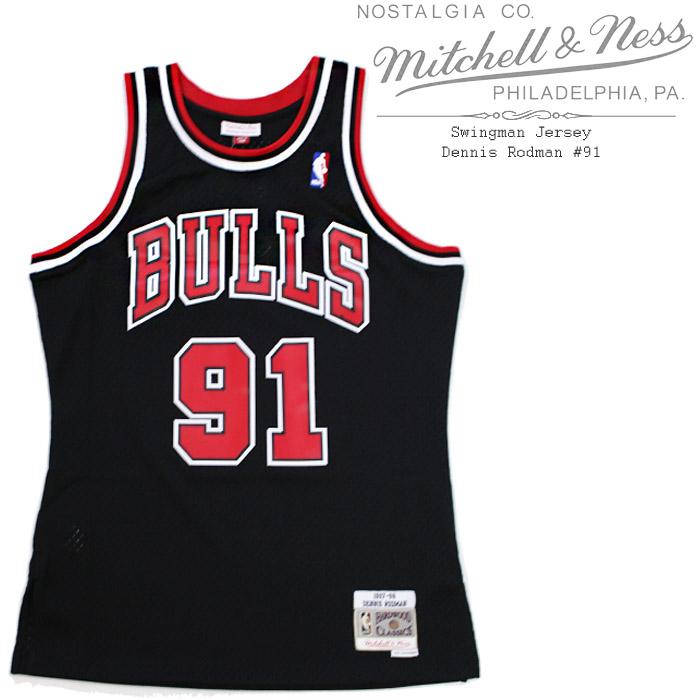 [あす楽]MITCHELL & NESS Swingman Jersey - Dennis Rodman #91 デニス ロッドマン シカゴブルズ スウィングマン ジャージー ユニフォーム ミッチェル&ネス ロドマン