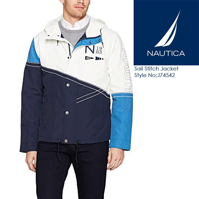 ノーティカ Sail Stitch Jacket カラーブロックジャケット J74542 ウインドブレーカー ナイロンジャケット 90's 古着風 NAUTICA
