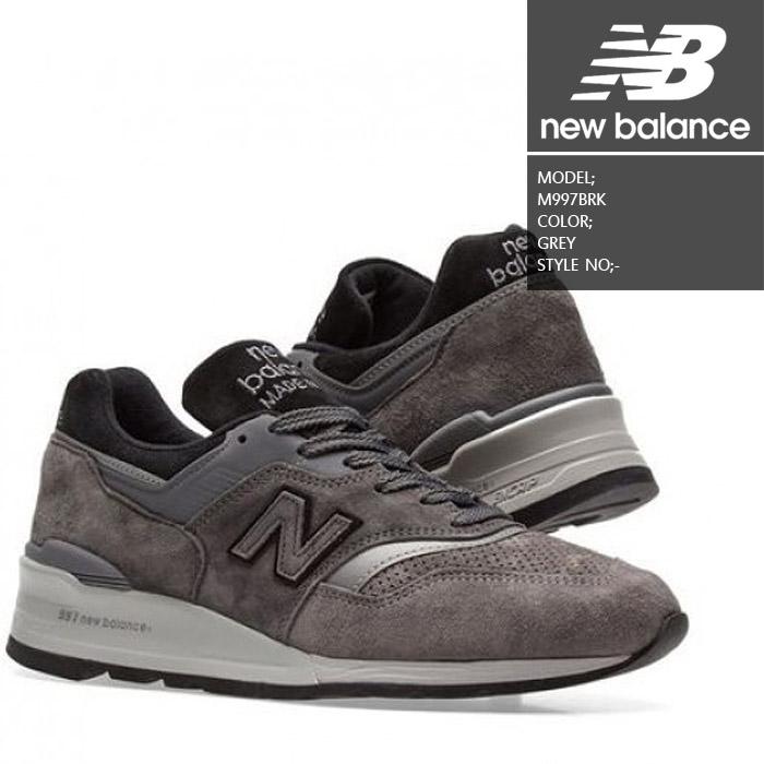 [あす楽]ニューバランス M997BRK GREY NEW BALANCE 靴 スニーカー ランニングシューズ メイドインUSA アメリカ【S2】