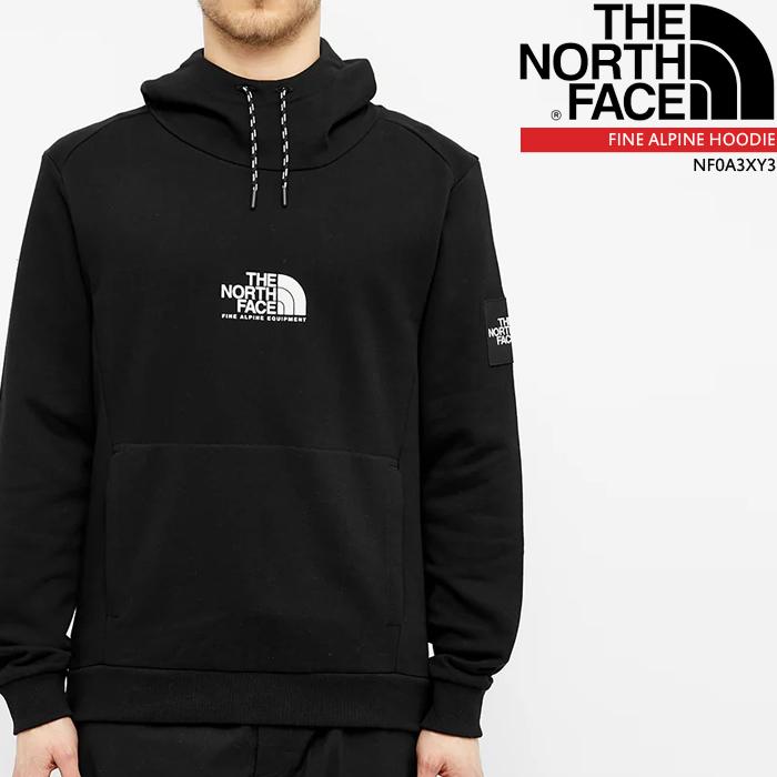 ノースフェイス パーカー フーディー THE NORTH FACE FINE ALPINE HOODIE NF0A3XY3 プルオーバー スェット▲[ブラック]