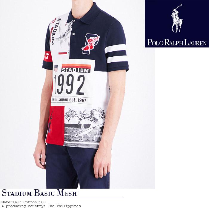 [あす楽]ポロ ラルフローレン STADIUM BASIC MESH SSL KNIT 710-678067-001 ポロシャツ ウイングロゴ POLO RALPH LAUREN 復刻 オリンピック バルセロナ