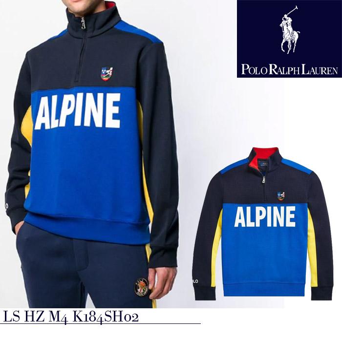 ポロ ラルフローレン ハーフジッププルオ-バー ニット polo ralph lauren ski LS HZ M4 K184SH02 スキー アルパイン▲[ブルー] ds-Y