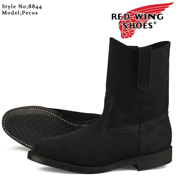 [送料無料]レッドウイング ペコス ワークブーツ ウエスタン RED WING PECOS 8844 Black Abilene【Width:E】 ds-Y ▲[ブラック]