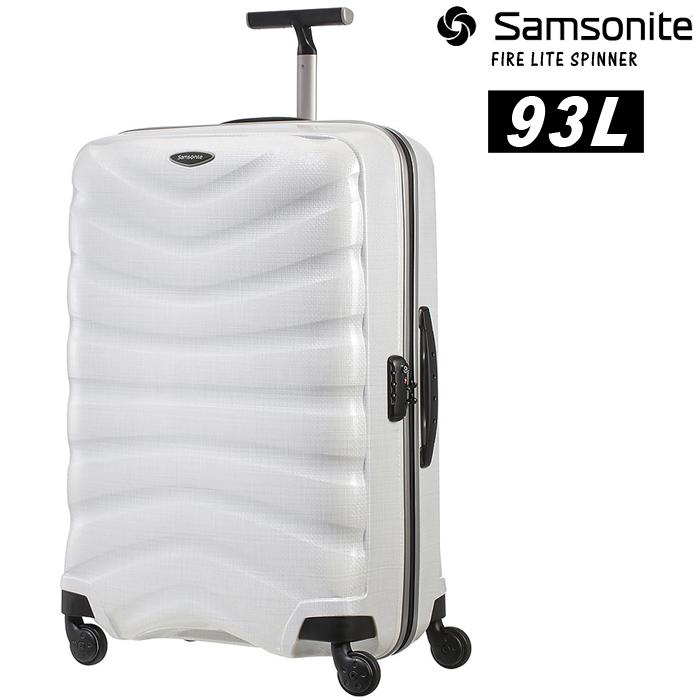 [送料無料]サムソナイト キャリーケース スーツケース SAMSONITE FIRELITE 75/28 93L [76220] Off White 4~7泊の旅行 軽量 大型 4輪 TSAロック ローラー コロコロ▲[ホワイト]