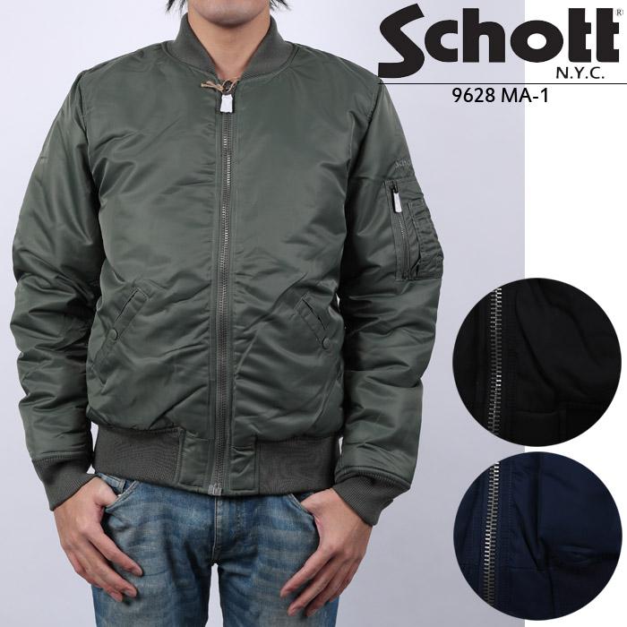 Schott 9628 MA-1 フライトジャケット ショット ボンバージャケット ミリタリージャケット カード分割