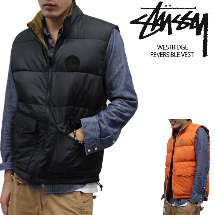 【Orange-S・L のみ/完売間近】■アウトレット品■ステューシー リバーシブルベスト STUSSY Westridge Reversible Vest 0150131 sale セール▲[ブラック][オレンジ]ds-Y
