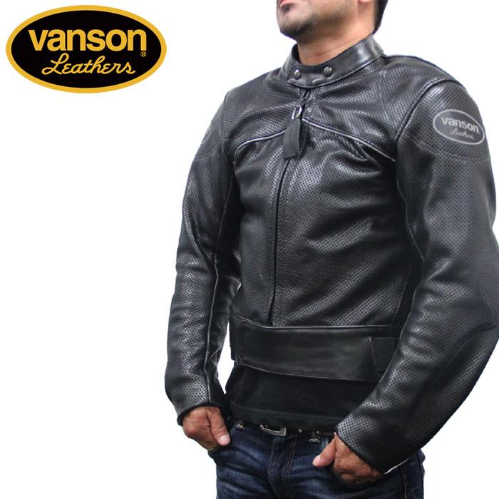 [送料無料]バンソン レザー ライダース ジャケット VANSON HURRICANE Mark2 C3H2 BLK レーサーシングルライダース カード分割▲[ブラック]ds-Y