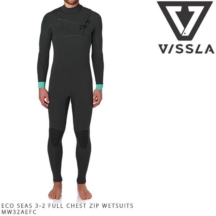 ヴィスラ VISSLA ECO SEAS 3-2 FULL CHEST ZIP WETSUITS ウェットスーツ フルスーツ サーフィン サーフ MW32AEFC