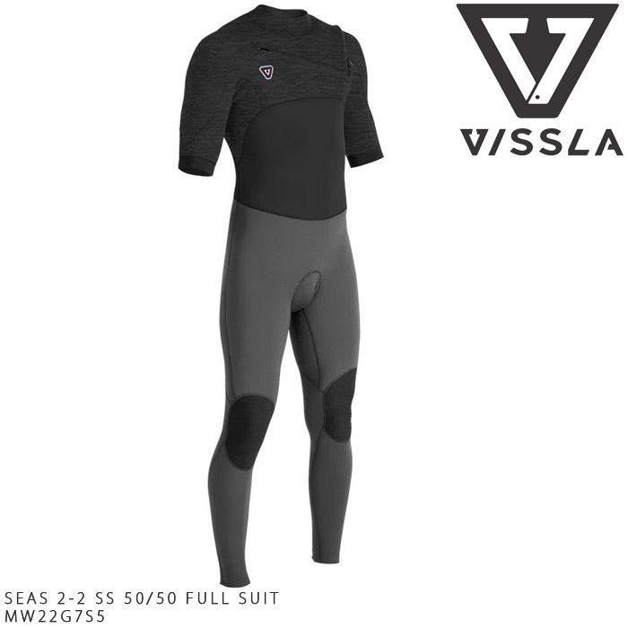 ヴィスラ ウェットスーツ VISSLA7 SEAS 2-2 SS 50/50 FULL SUIT MW22G7S5 シーガル 半袖 サーフィン サーフ 大きいサイズ