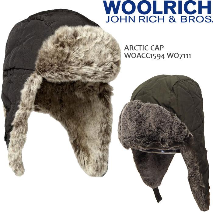 [送料無料]ウールリッチ キャップ 帽子 woolrich ARCTIC CAP アークティックキャップ WOACC1594 WO7111 JOHN RICH & BROS ボンバーキャップ フライトキャップ パイロットキャップ フライトキャップ 飛行帽 ▲[グリーン][ブラック]
