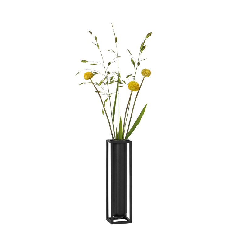 by Lassen Kubus フラワーベース Flora ブラック 北欧 デンマーク