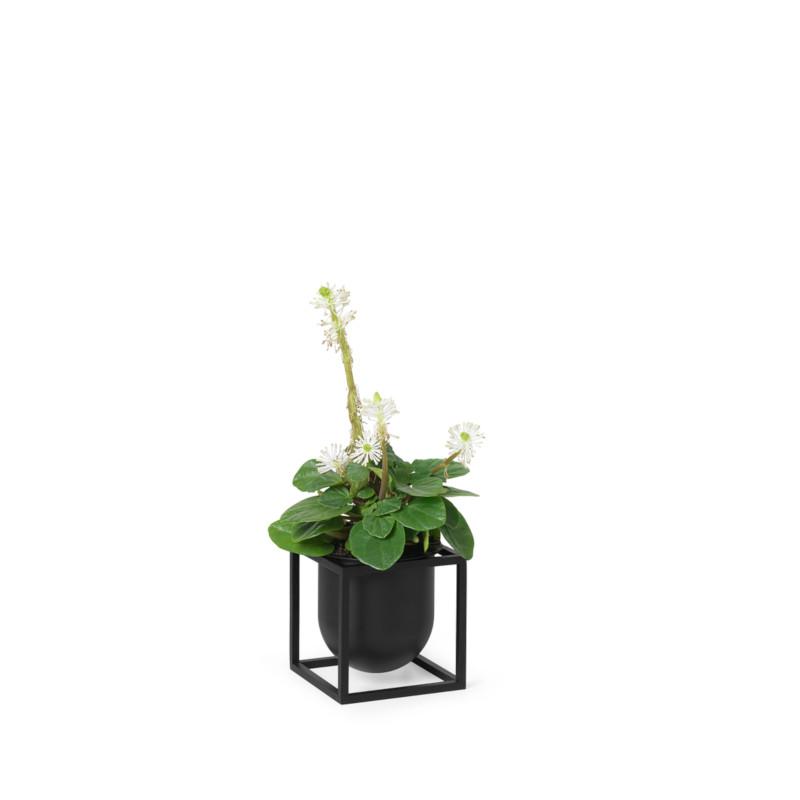 by Lassen Kubus フラワーポット 10cm ブラック 植木鉢カバー 北欧 デンマーク