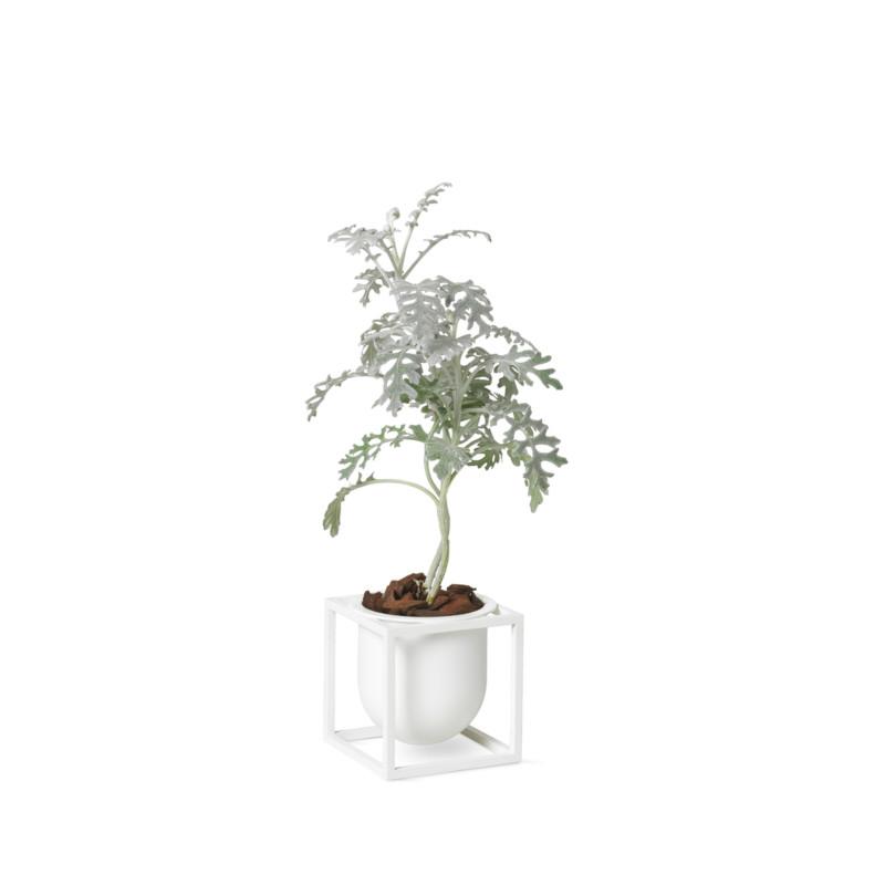 【3980円以上で送料無料!】by Lassen Kubus フラワーポット 10cm ホワイト 植木鉢カバー 北欧 デンマーク