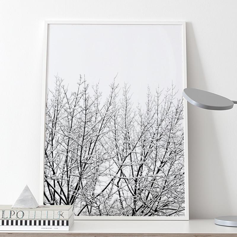 Coco Lapine Design ポスター SNOWY TREE 50x70cm 北欧 おしゃれ インテリア インテリア雑貨 モノクロ 雪 ココラパン ココラパンデザイン アート アートポスター 50 70 絵画 絵 壁掛け モダン nest ベルギー ドイツ