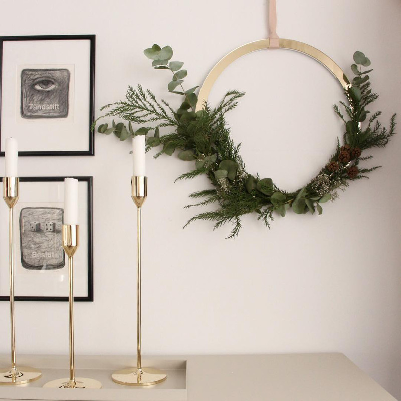 2019年春の Cooee リース Design ブラス リース 40cm 40cm ブラス 北欧 スウェーデン, アイアン専門店CERISE(スリーズ):84c3945f --- totem-info.com