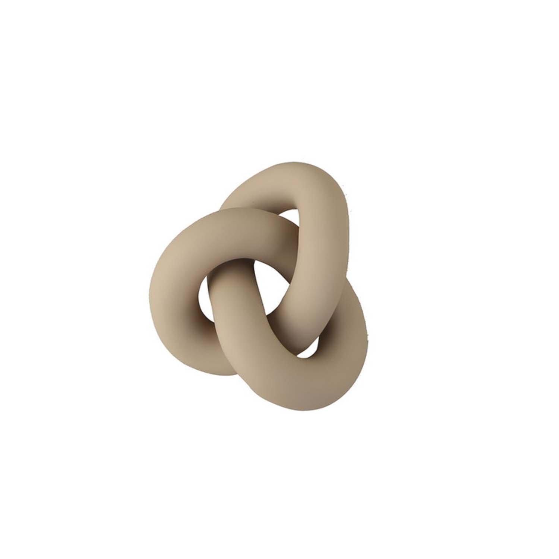 永遠の絆のオブジェクト マート Cooee Design オブジェ Knot サンド S 11.5cm ペーパーウェイト 結び目 おしゃれ スウェーデン 置物 nest 祝開店大放出セール開催中 ベージュ クーイー モダン クーイーデザイン 北欧