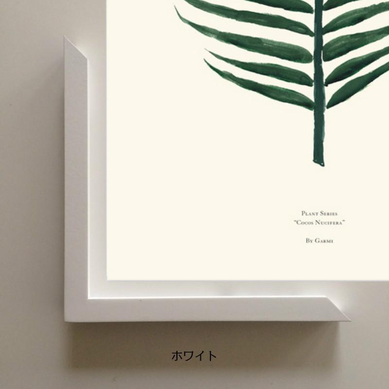 50x70cm「ホワイト」 ポスターを格上げ&映り込みが少ない!nest の木製フレーム(前面:アクリル板)日本製【受注生産・メーカー直送・送料無料】