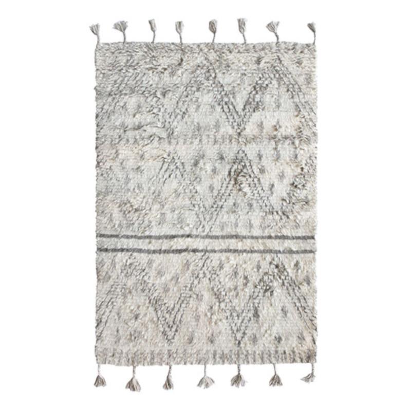 HKliving ラグ ベニワレン風 ウール 手織り 120x180cm おしゃれ nest オランダ