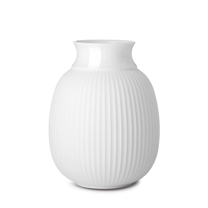 Lyngby Porcelain フラワーベース 17.5cm ホワイト Curve Vase リュンビューポーセリン 北欧 デンマーク