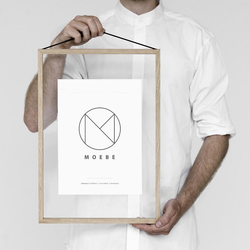 あなたのクリエイティビティを刺激するフレーム MOEBE フレーム A3 オーク ついに再販開始 あなたのクリエイティビティを刺激する 日本正規品 デンマーク ムーベ 北欧