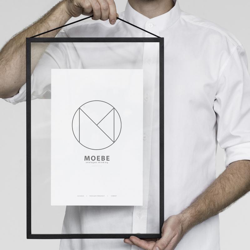 あなたのクリエイティビティを刺激するフレーム! MOEBE フレーム A3「ブラック」 あなたのクリエイティビティを刺激する! ムーベ 北欧 デンマーク