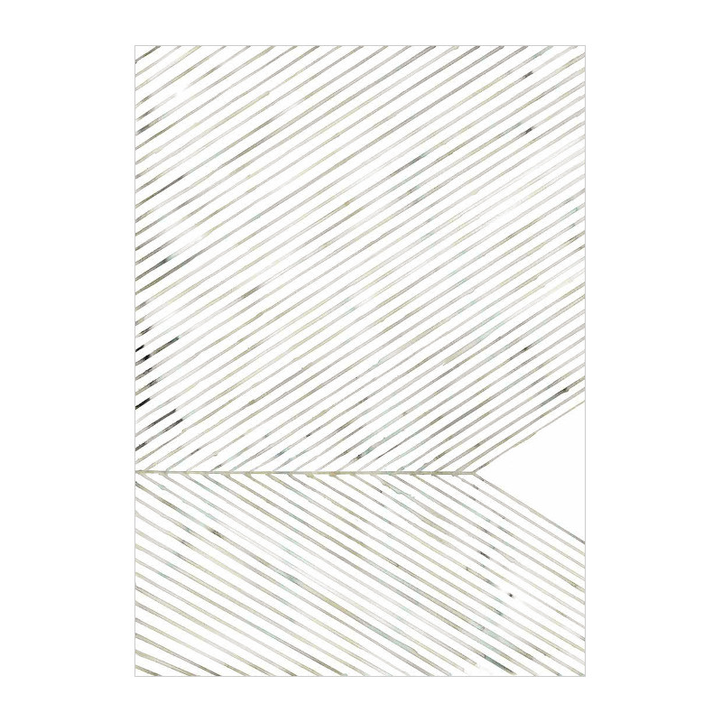 Silke Bonde 「Leaf lines/葉脈(グリーン)」 50x70 アートポスター 北欧 デンマーク