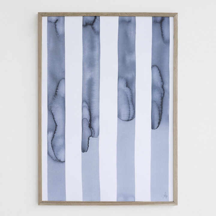 Silke Bonde 「Silent/静かな空」 50x70 アートポスター 北欧 デンマーク