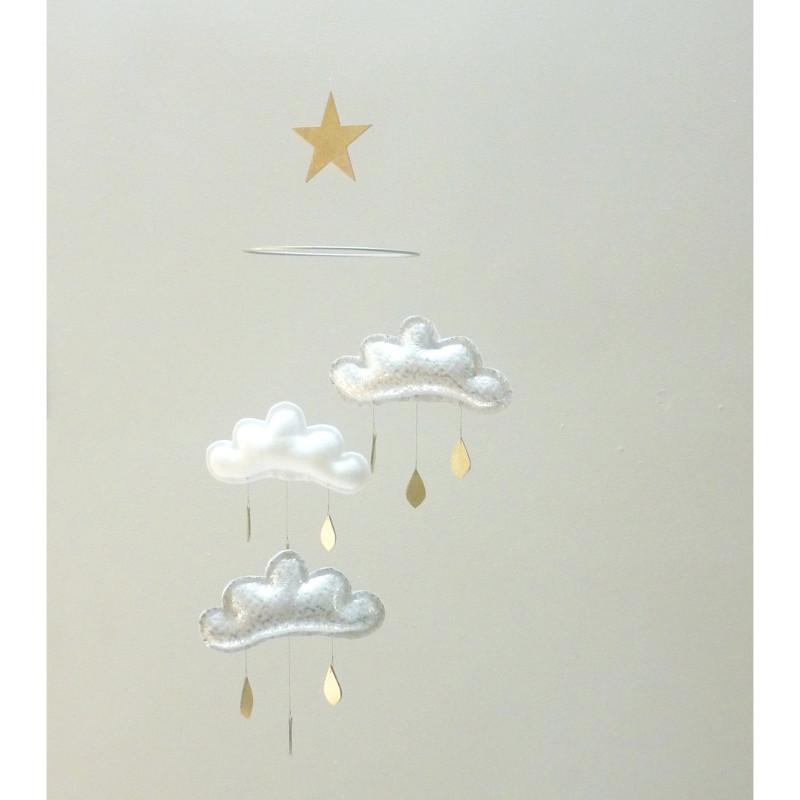 カワいい!3つの雲モビール ★KATIE★ The Butter Flying バターフライング カナダ