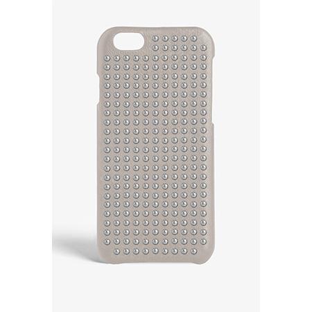 The Case Factory iPhone 7 / 8 ケース グレー×シルバースタッズ イタリア産ラム革 ナッパレザー 北欧 スウェーデン【メール便OK】