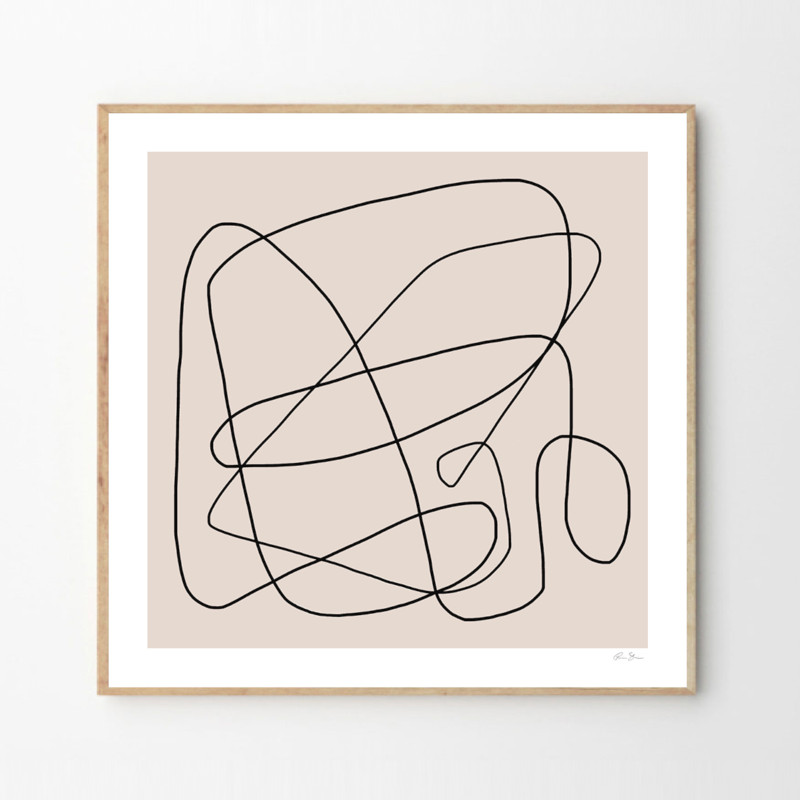 THE POSTER CLUB ポスター ABSTRACT LINES 01 50x50cm 北欧 おしゃれ インテリア インテリア雑貨 アート アートポスター 50 50 絵画 絵 壁掛け モダン nest デンマーク