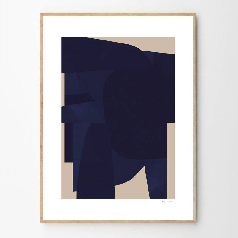 THE POSTER CLUB ポスター BLUE 50x70cm 北欧 おしゃれ インテリア インテリア雑貨 アート アートポスター 50 70 絵画 絵 壁掛け モダン nest デンマーク
