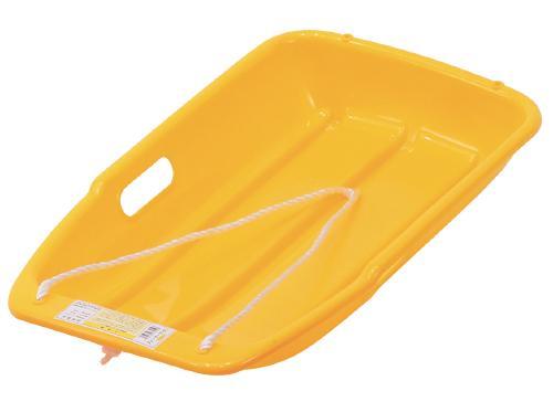 大人気の二人乗り用の大型ソリ。潮干狩りや草すべり・農作物の運搬にも使える! スノーボート 大 (二人乗りOK)イエロー