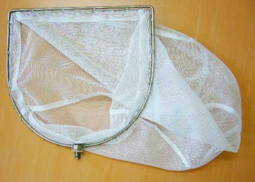 【丈夫な2重枠仕様】白色ネジ式魚網ヘッド30
