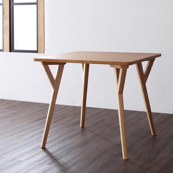 【代引不可】北欧モダンデザインダイニング《ILALI》イラーリ/ダイニングテーブルW80幅80 高さ70 2人掛け 2人用 テーブル ダイニングテーブル 食卓 ダイニング 木製 天然木 タモ 脚 モダン デザイナーズ 北欧 ナチュラル 新生活 netc5