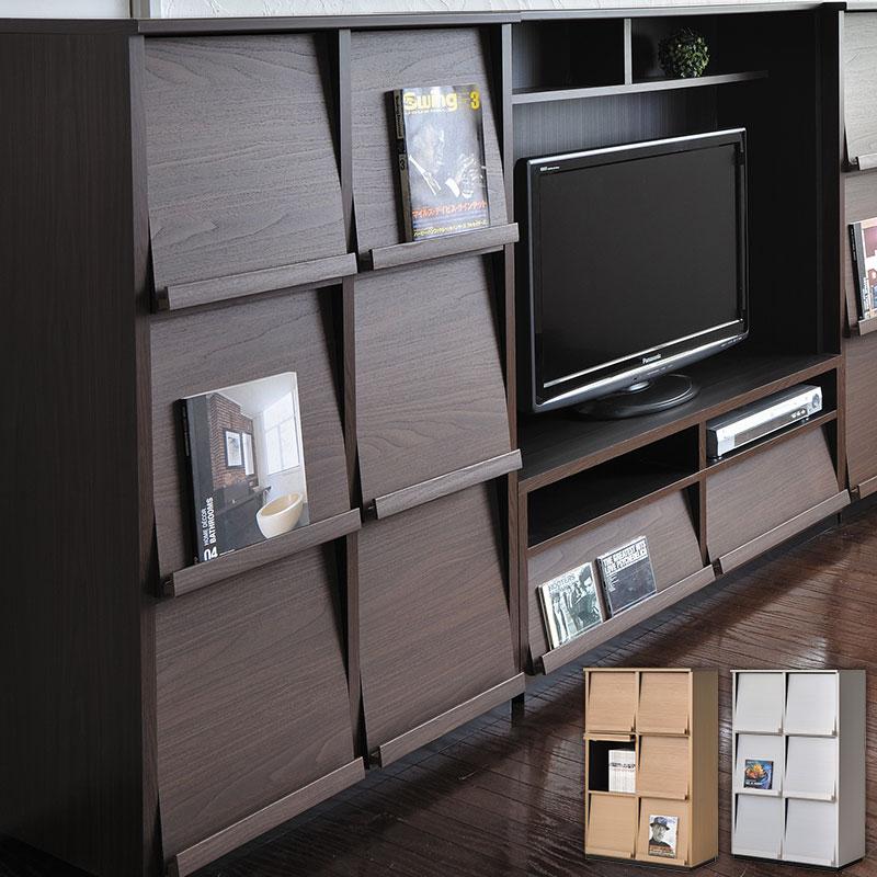 ディスプレイラック wf-1280dp ウォルフィット wal-fit 2列3段 日本製収納 収納家具 キャビネット 本棚 ラック シェルフ フラップ扉 フリーラック 多目的ラック 壁面収納 壁面家具 棚 a4 木製 おしゃれ 北欧 ナチュラル ブラウン ホワイト 白 netc5
