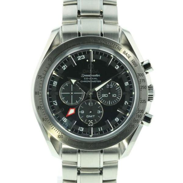 オメガ スピードマスター ブロードアロー コーアクシャル GMT クロノグラフ OMEGA Speedmaster Broad Arrow Co-Axial GMT Chronograph/3581.50.00【新品】【メンズ】