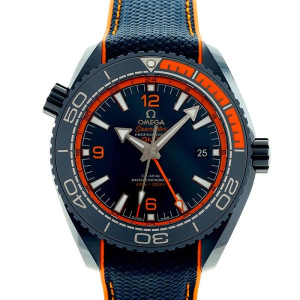 オメガ シーマスター 600 プラネットオーシャン GMT ビッグブルー OMEGA SEAMASTER PLANET OCEAN 600 GMT BIG BLUE/215.92.46.22.03.001【新品】【メンズ】