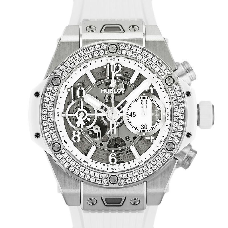 ウブロ ビッグバン ウニコ チタニウム ホワイトダイヤモンド HUBLOT BIG BANG UNICO TITANIUM WHITE DIAMOND/441.NE.2010.RW.1104【新品】【メンズ】