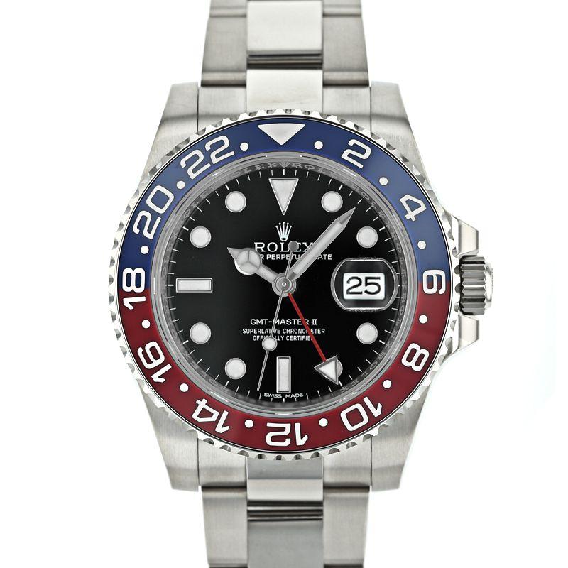ロレックス GMTマスターII ROLEX GMT-MASTERII 未使用品 /116719BLRO【中古】【メンズ】