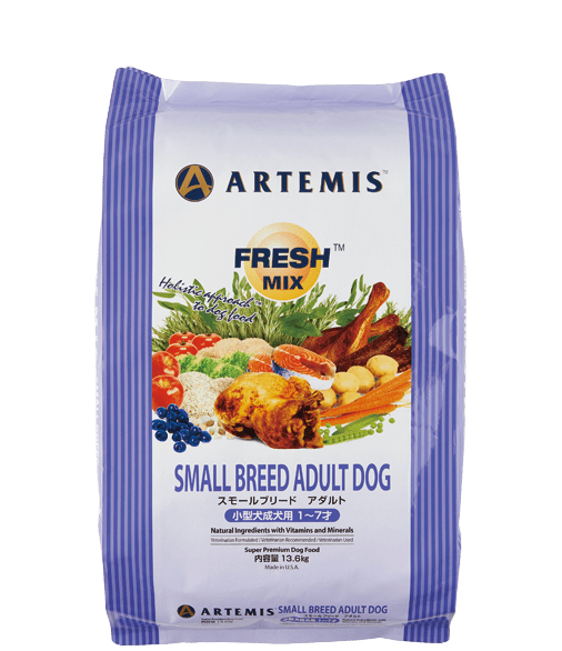 アーテミス フレッシュミックス スモールブリード アダルト (小粒タイプ) 13.6kg ARTEMIS 【犬用/ドッグフード/ドライフード/超小型犬/小型犬/成犬】 【送料無料】