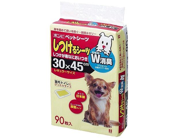 ボンビアルコン しつけるシーツ W消臭 レギュラー 540枚 (90枚×6パック) 【ペットシーツ/トイレ/小型犬】