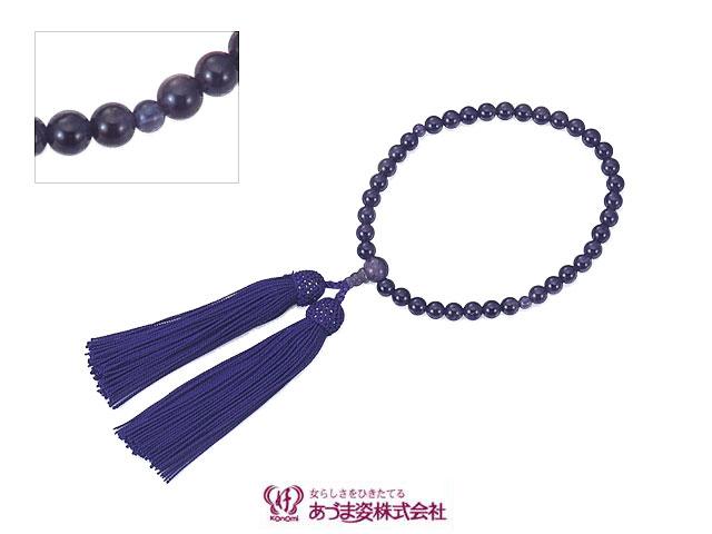 あづま姿 念珠 女性用片手 紫水晶 No.517【q新品】