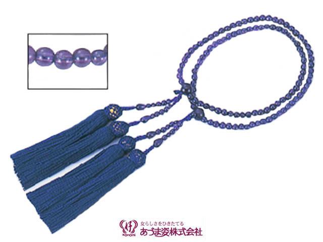 あづま姿 念珠 女性用二輪 紫水晶 No.521【q新品】