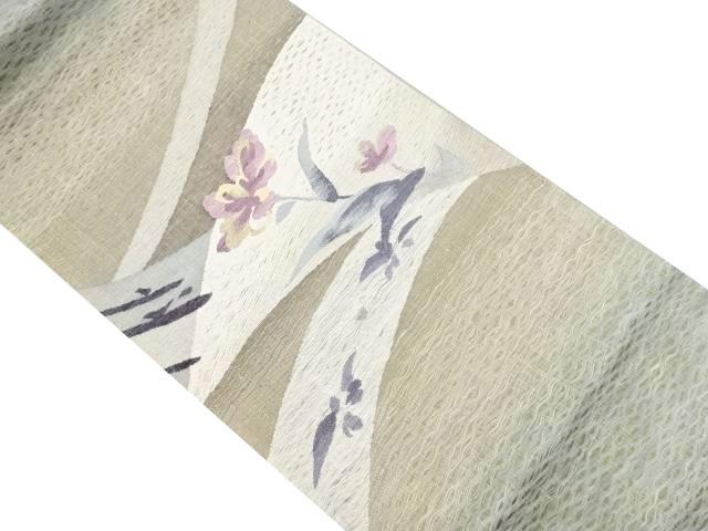 未使用品 すくい織花模様織り出し袋帯【リサイクル】【中古】
