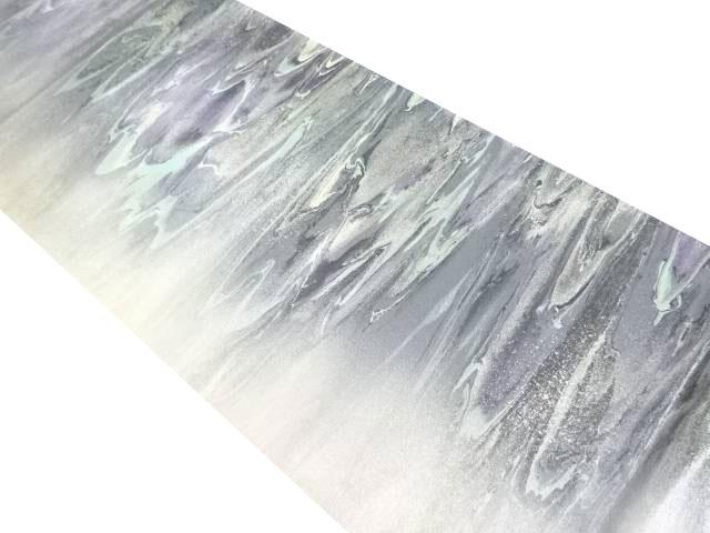 松島織物製 平成流紋箔絣模様袋帯【リサイクル】【中古】